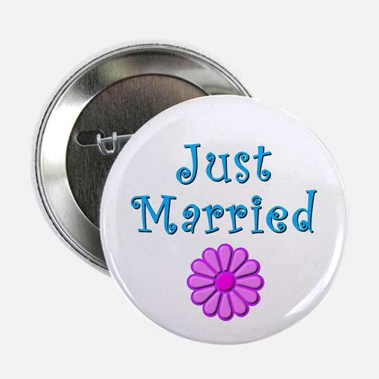 Just Married (flower) Button