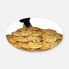 Loki-Cookies Oval Car Magnet