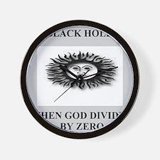 funny black hole joke gifts t-shirts Wall Clock