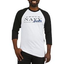 Proud Navy Grandpa (blue) Baseball Jersey