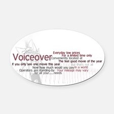 VO-advertising-cliches Oval Car Magnet