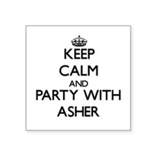 Keep Calm and Party with Asher Sticker