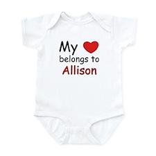 My heart belongs to allison Infant Bodysuit