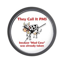 Mad Cow! Wall Clock