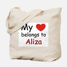 My heart belongs to aliza Tote Bag