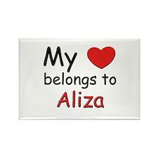 My heart belongs to aliza Rectangle Magnet
