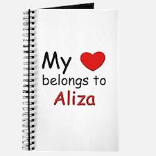 My heart belongs to aliza Journal
