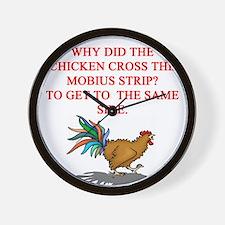 mobius strip joke Wall Clock