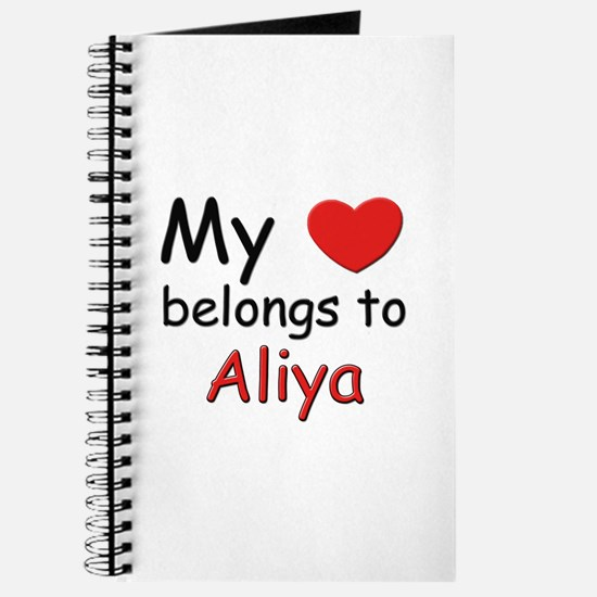My heart belongs to aliya Journal