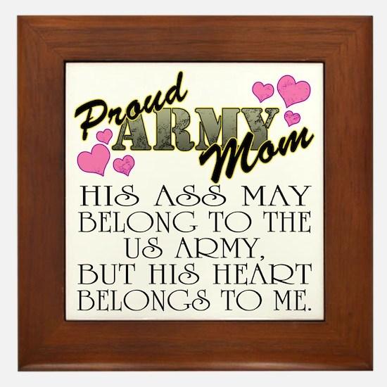 proud mom_1 Framed Tile