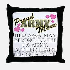 proud mom_daughter Throw Pillow