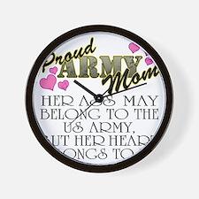 proud mom_daughter Wall Clock