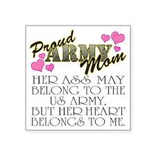 "proud mom_daughter Square Sticker 3"" x 3"""