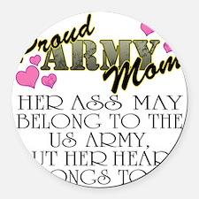 proud mom_daughter Round Car Magnet