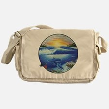 3-dolphans-copy Messenger Bag