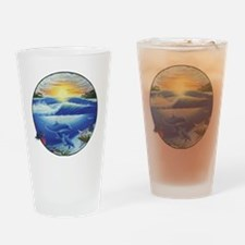 3-dolphans-copy Drinking Glass