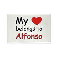 My heart belongs to alfonso Rectangle Magnet