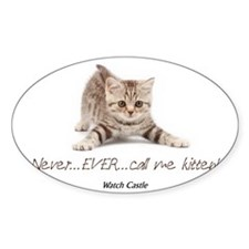 2-abc kitten Sticker (Oval)