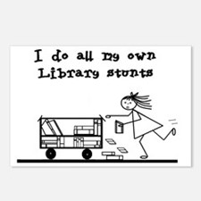 library stunts Postcards (Package of 8)