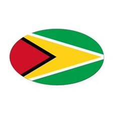 guyana.flag.large Oval Car Magnet
