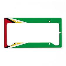 guyana.flag.large License Plate Holder