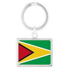 guyana.flag.large Landscape Keychain
