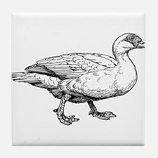 Duck Drawing Tile Coaster