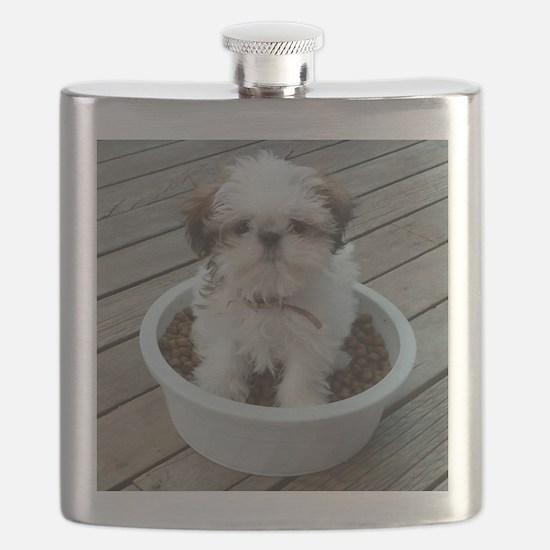 Shih Tzu Puppy in Bowl Flask