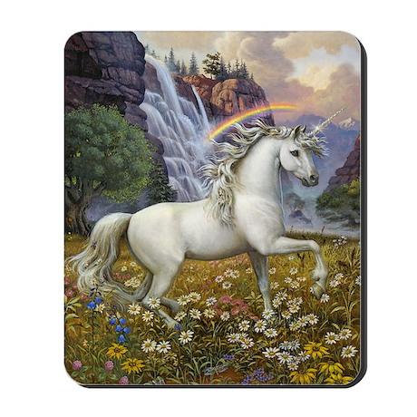 UnicornRainbow Valley_card Mousepad