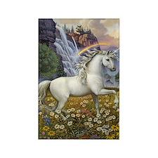 UnicornRainbow Valley_card Rectangle Magnet