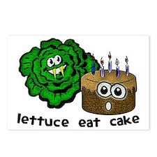 lettuce eat cake Postcards (Package of 8)