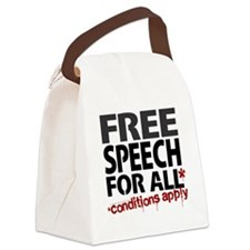 Free Speech For All Conditions Ap Canvas Lunch Bag