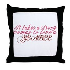 It takes a Strong Woman to lo Throw Pillow
