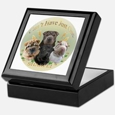 Sharpei Cant Have Just One round Keepsake Box