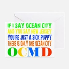 Ocean City Sick Puppy Greeting Card