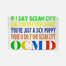 Ocean City Sick Puppy Rectangle Magnet