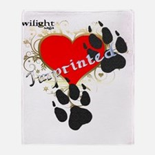 Imprinted wolf prints paw effect Throw Blanket