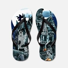 Haunted House PosterP Flip Flops