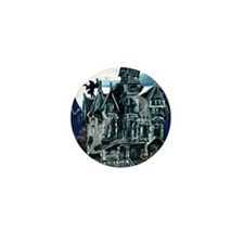 Haunted House PosterP Mini Button