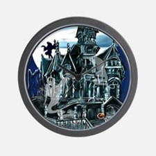 Haunted House PosterP Wall Clock