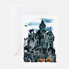 Haunted House Trans Greeting Card