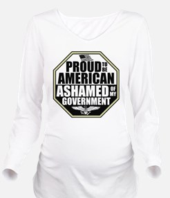 2-ashamed4 Long Sleeve Maternity T-Shirt