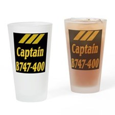 captain b747 Drinking Glass