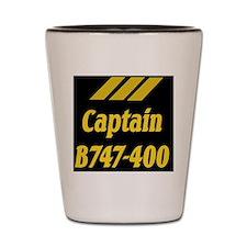 captain b747 Shot Glass
