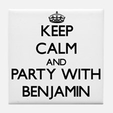 Keep Calm and Party with Benjamin Tile Coaster