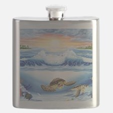 turtles world large Flask