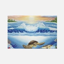turtles world large Rectangle Magnet