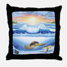 turtles world large Throw Pillow