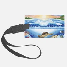 turtles world large Luggage Tag