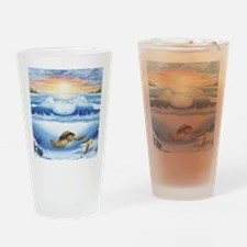 turtles world large Drinking Glass